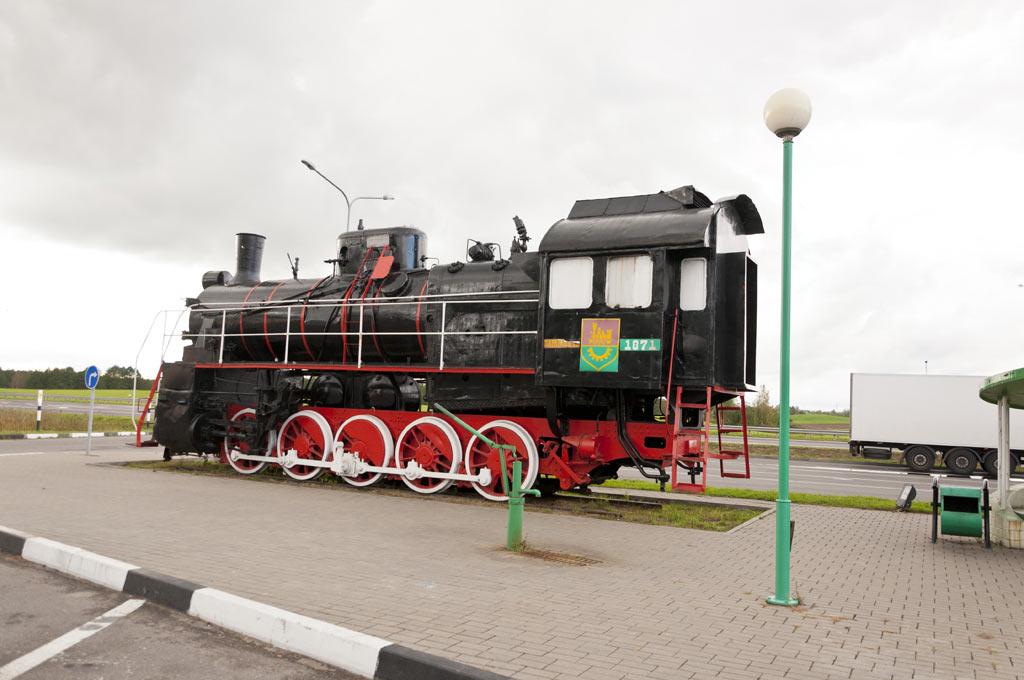 Памятник паровозу в Беларуси
