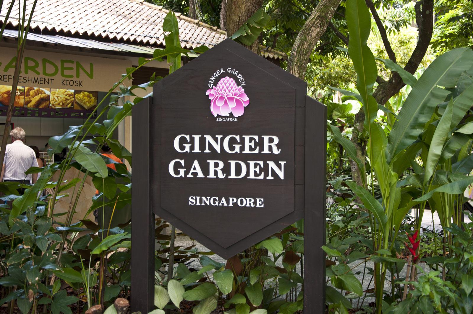 Имбирный сад в Сингапуре