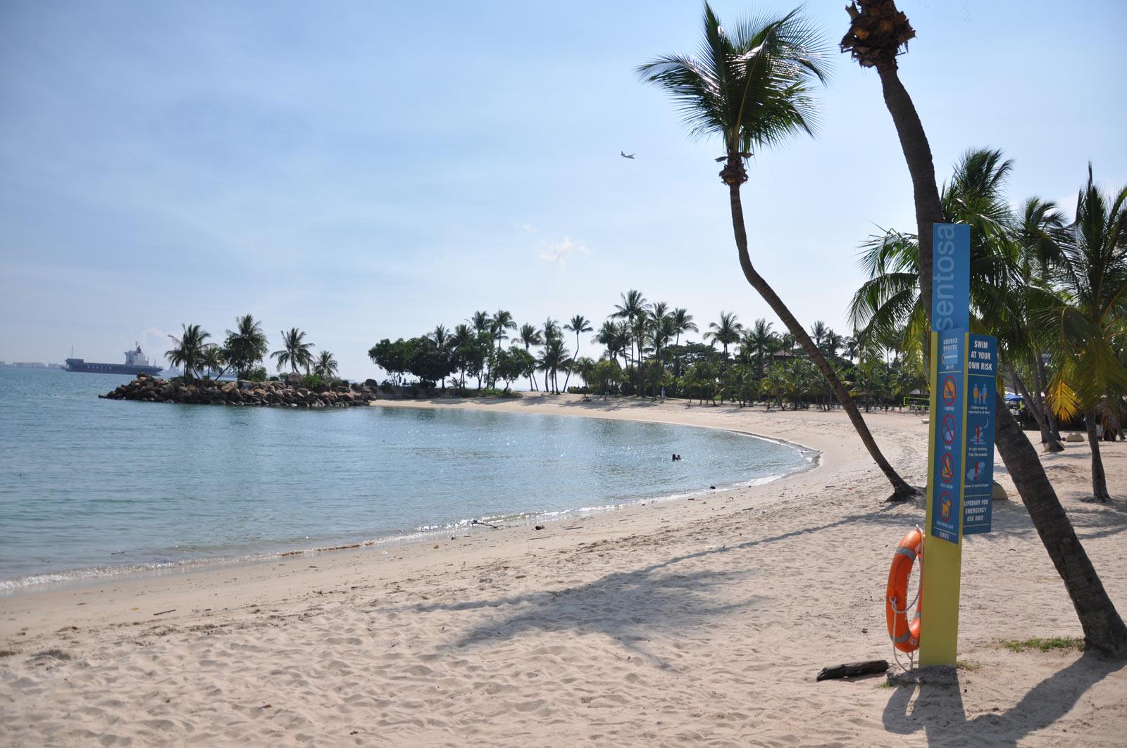 Пляж на Сентосе