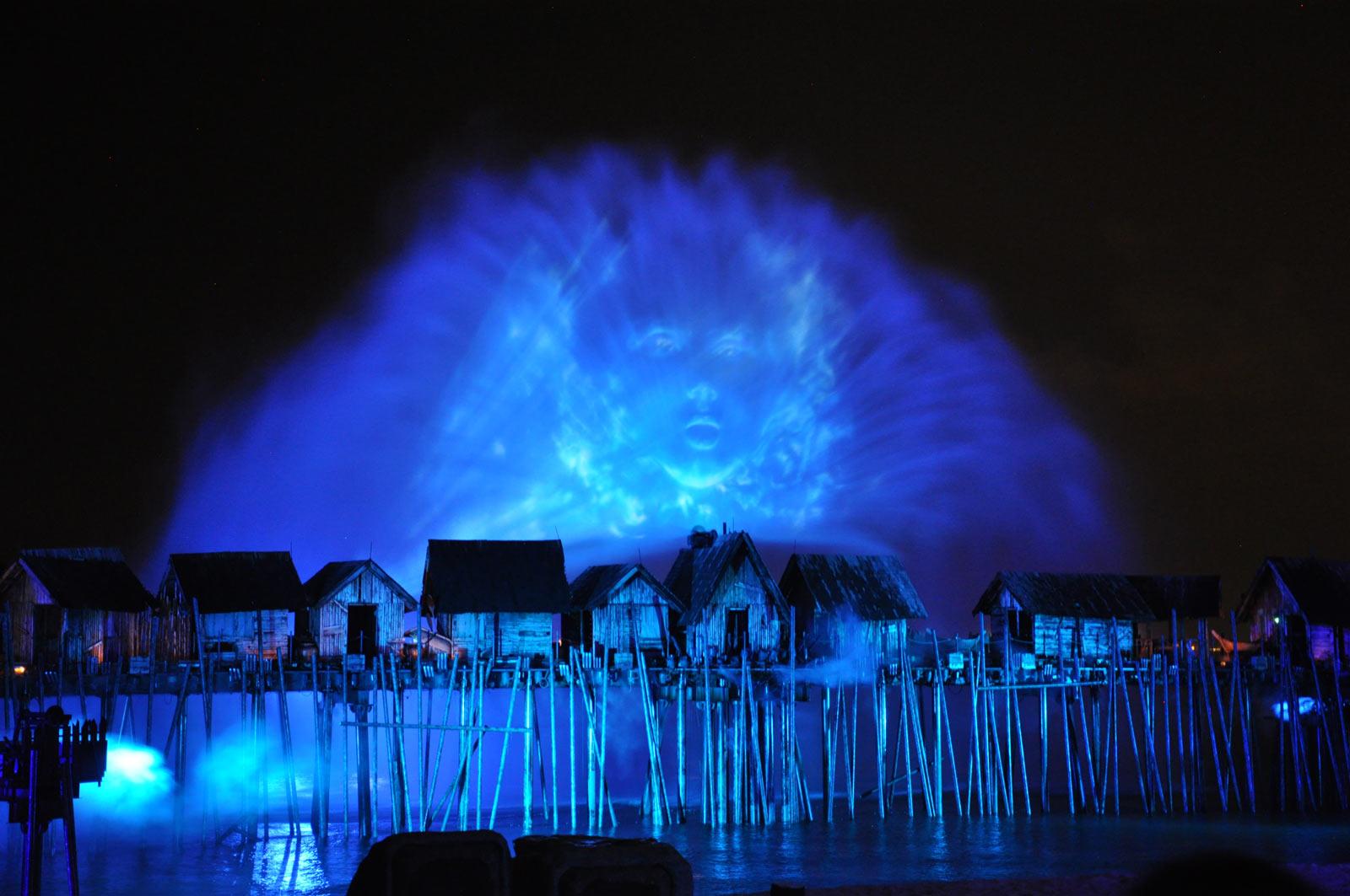 Лазерное шоу на острове Сентоса