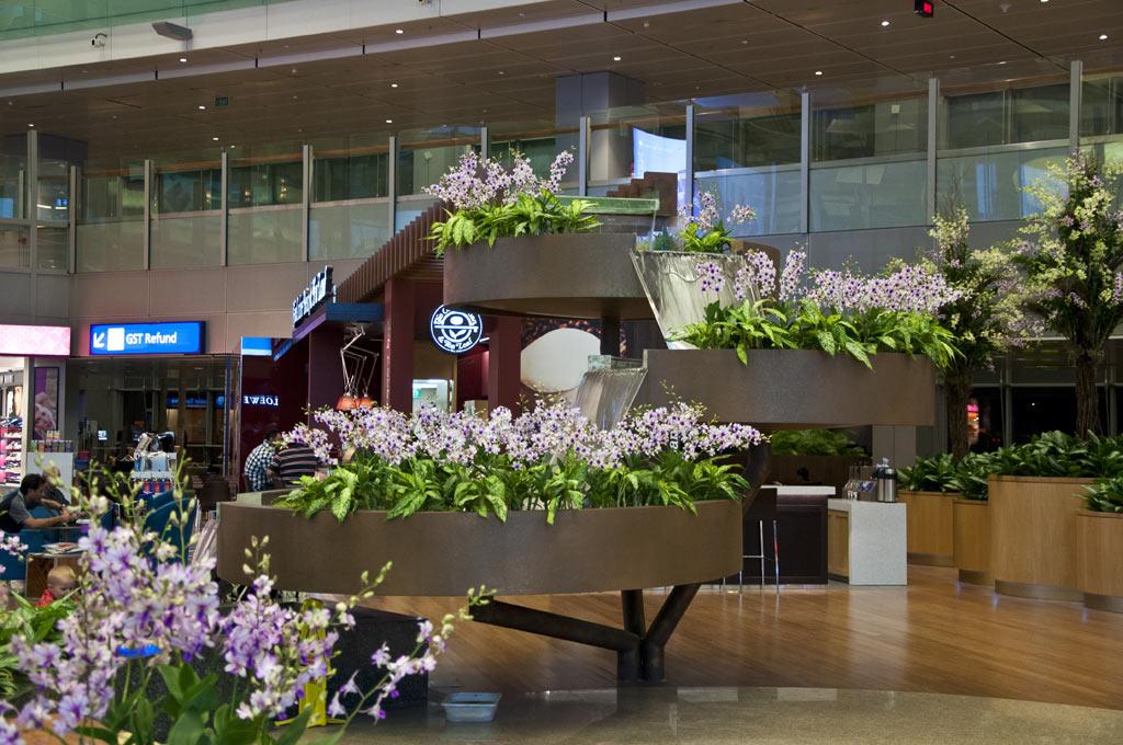 Внутри аэропорта Чанги в Сингапуре