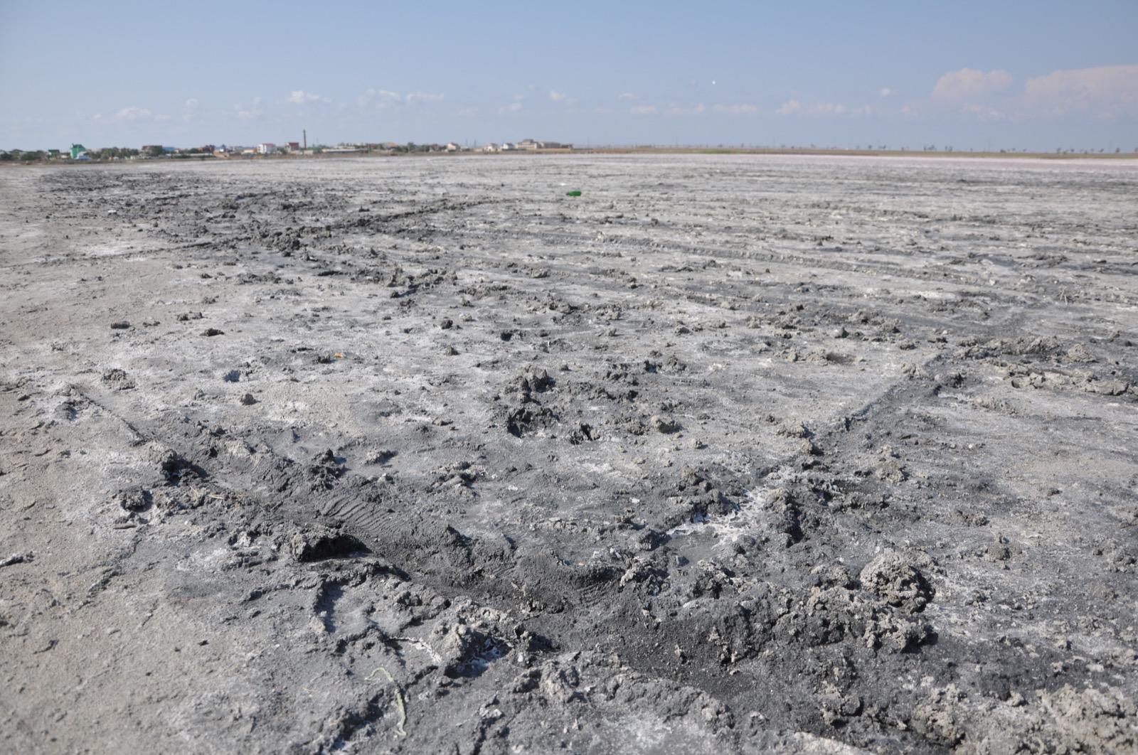 Пересохшее озеро в Поповке